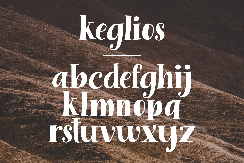 Keglios - Handdrawn Serif Fonts example image 7