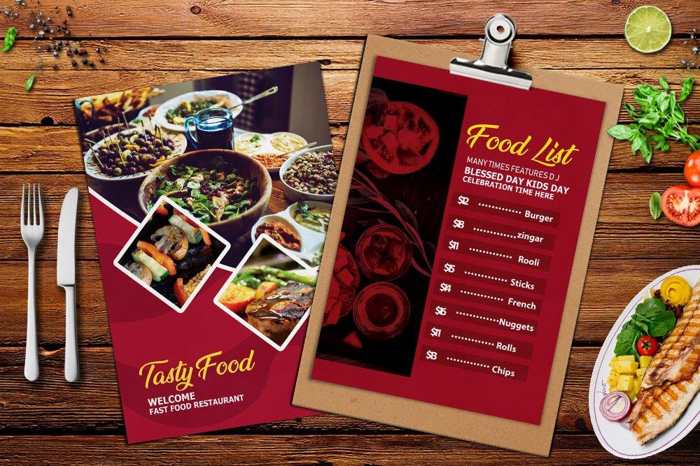 Food Menu Template Psd example image 2