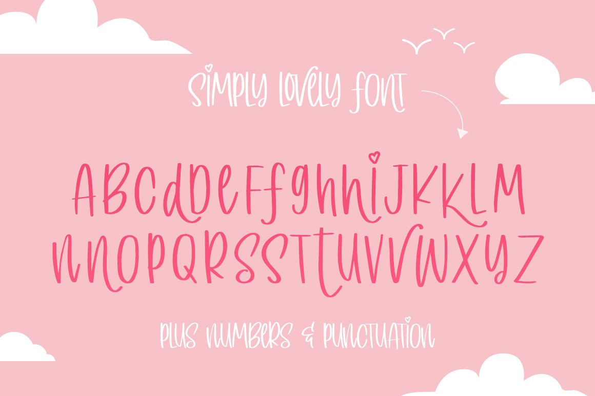 Simply Lovely Font example image 6