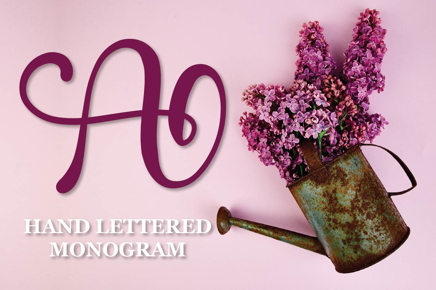 Monogram Letters - A Hand Lettered Set Of Initials example image 1