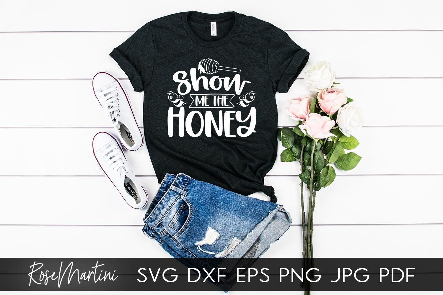 Show Me The Honey SVG Queen Bee SVG Bee Pun Bumble Bee SVG example image 7