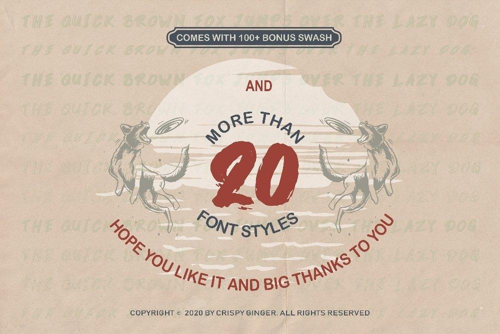 Kotoba Dua - 22 Font styles and 150 Swashes example image 2