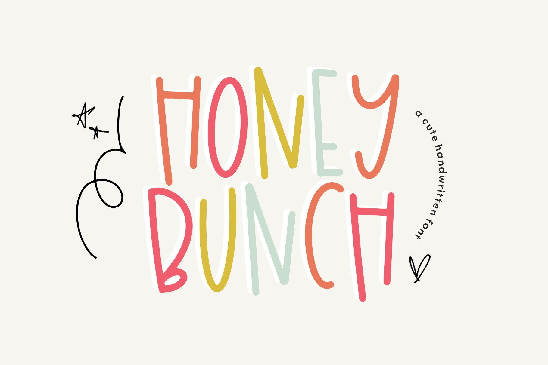 Honey Bunch - A Fun Handwritten Font with Extras example image 1