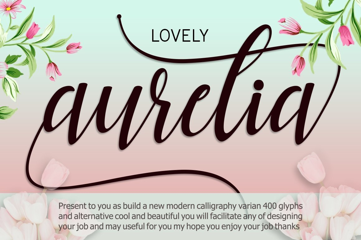 Web Font Aurelia Script example image 8