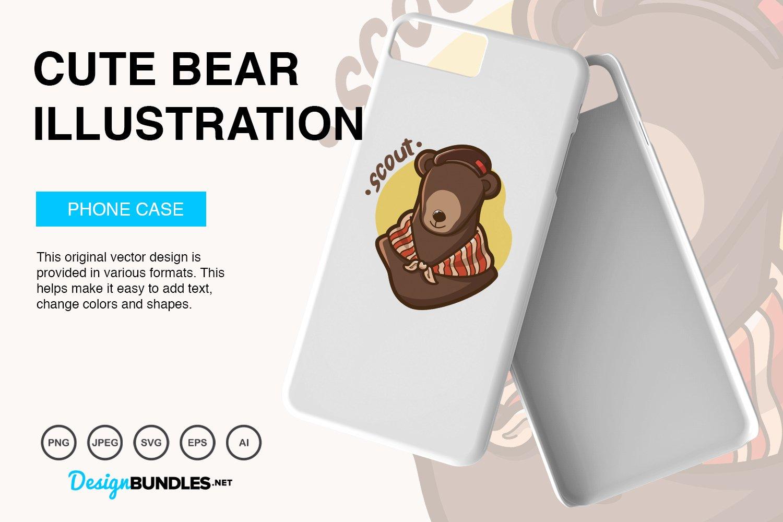 Cute Bear Vector Illustration example image 5