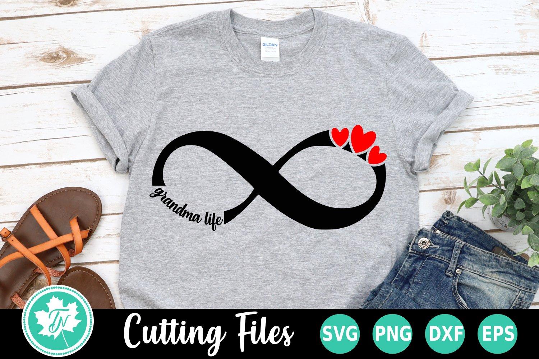 Download Infinity Love Grandma Life - A family SVG Cut File (252183 ...