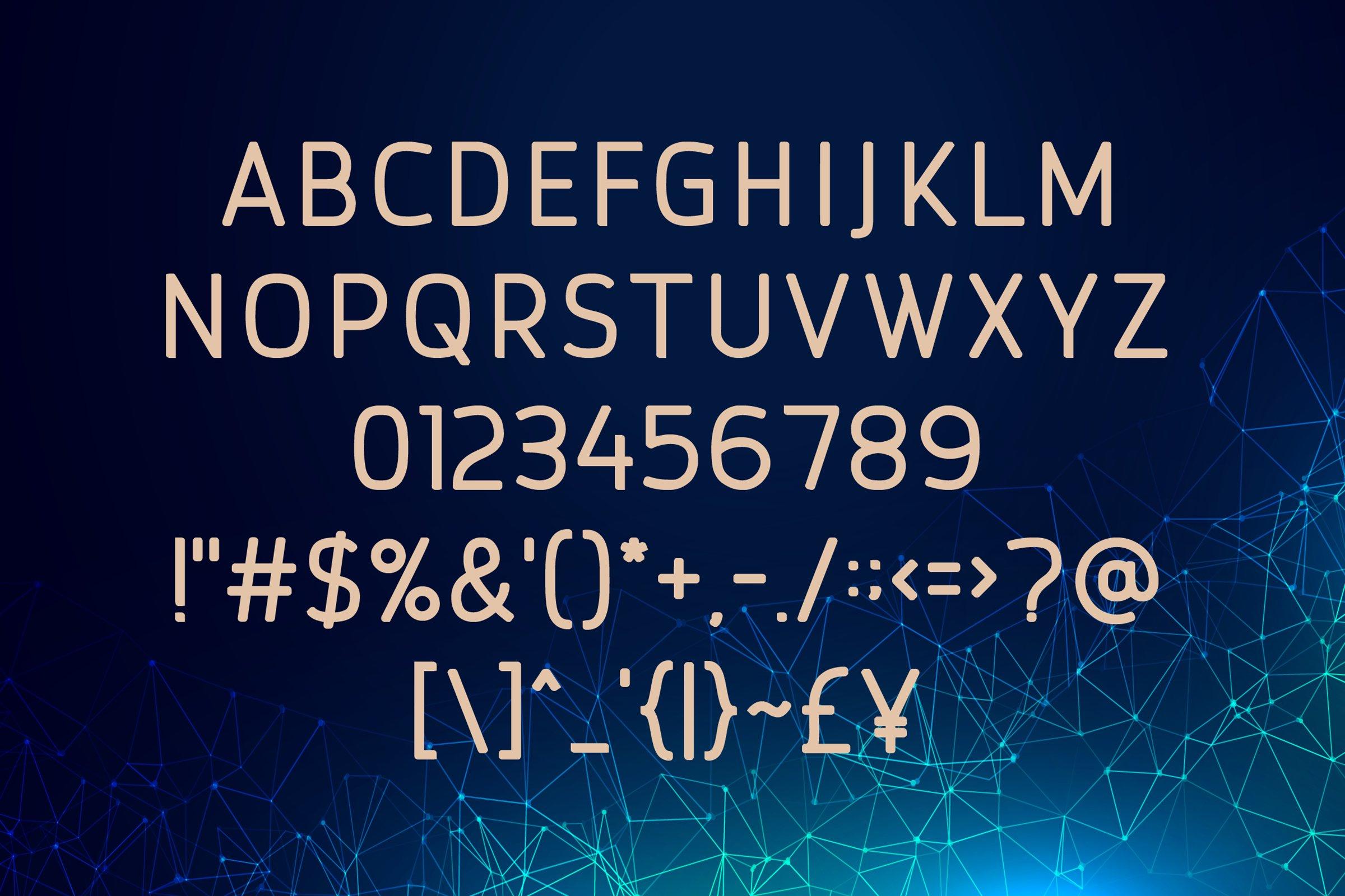 Browncode Bold Versionl Elegant font sans serif example image 2
