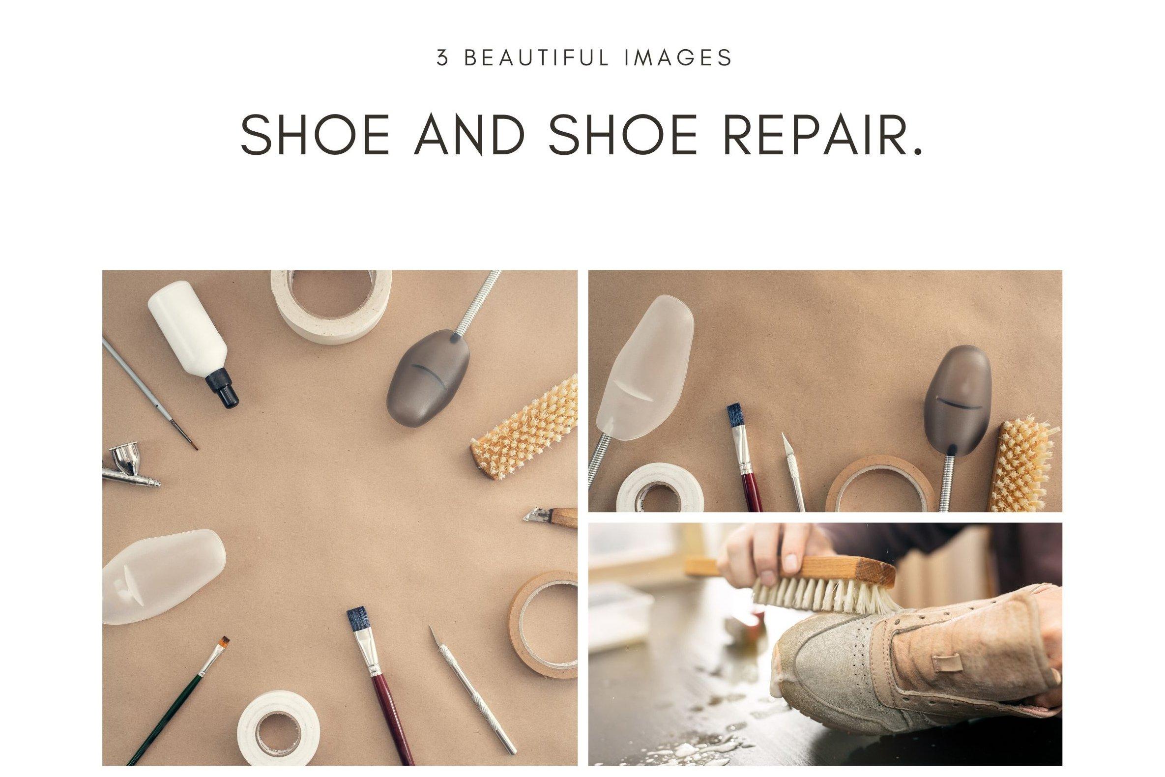 3 beautiful images. Shoe and shoe repair. example image 1