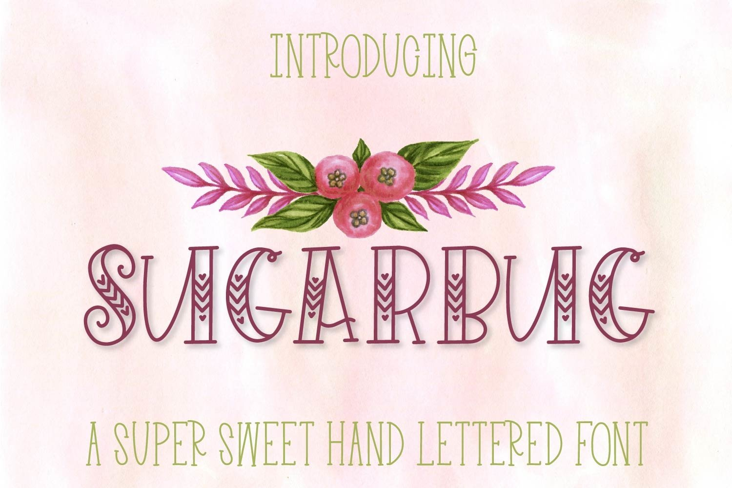 Sugarbug - A Hand Lettered Heart Font example image 1