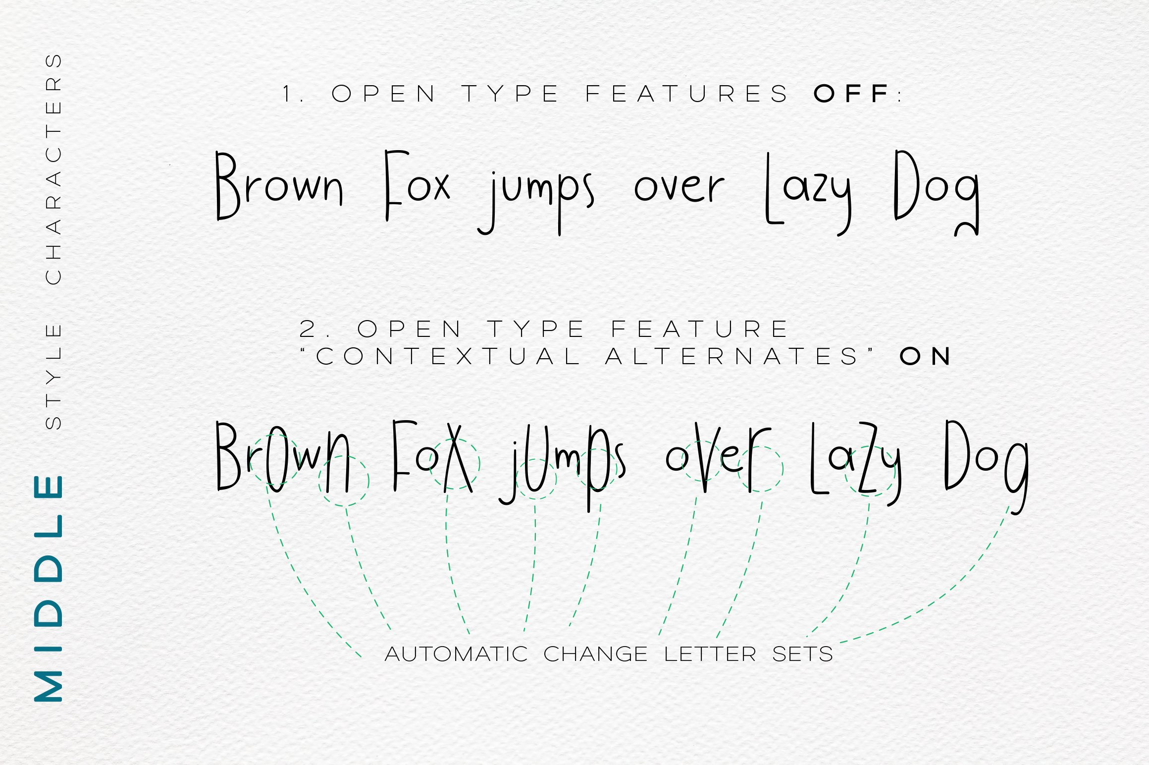 Jumpo Fox - thin bouncy font example image 7