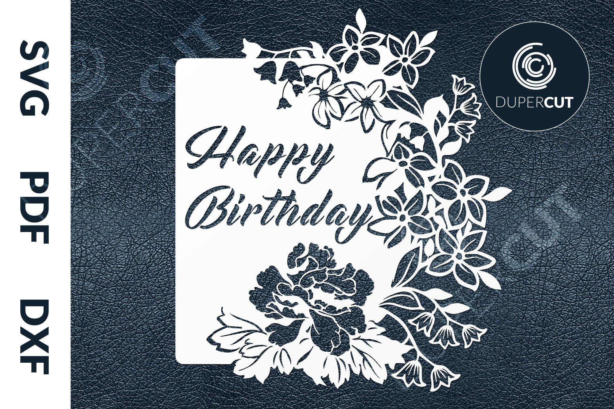 svg  pdf  dxf birthday card papercutting template