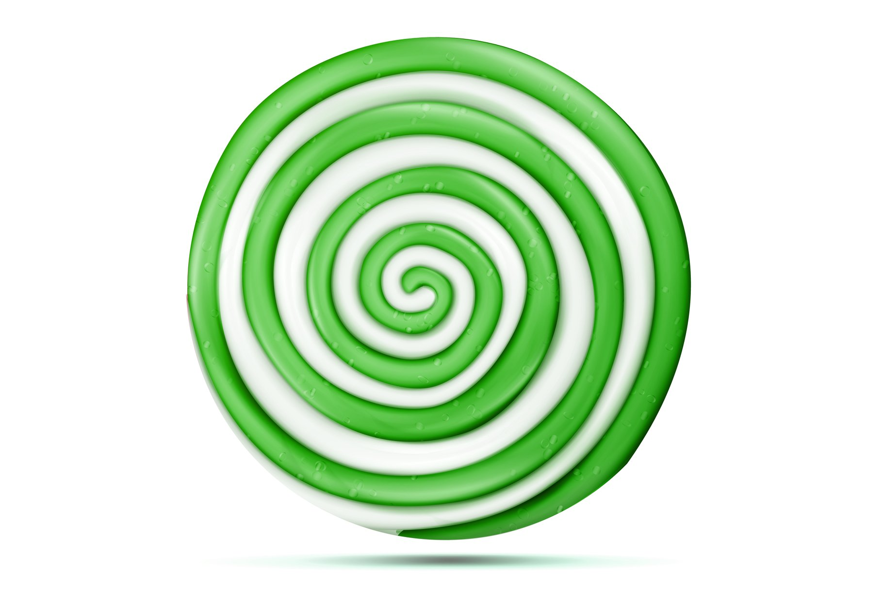 Lollipop Isolated Vector. Green Sweet Candy Round Swirl example image 1