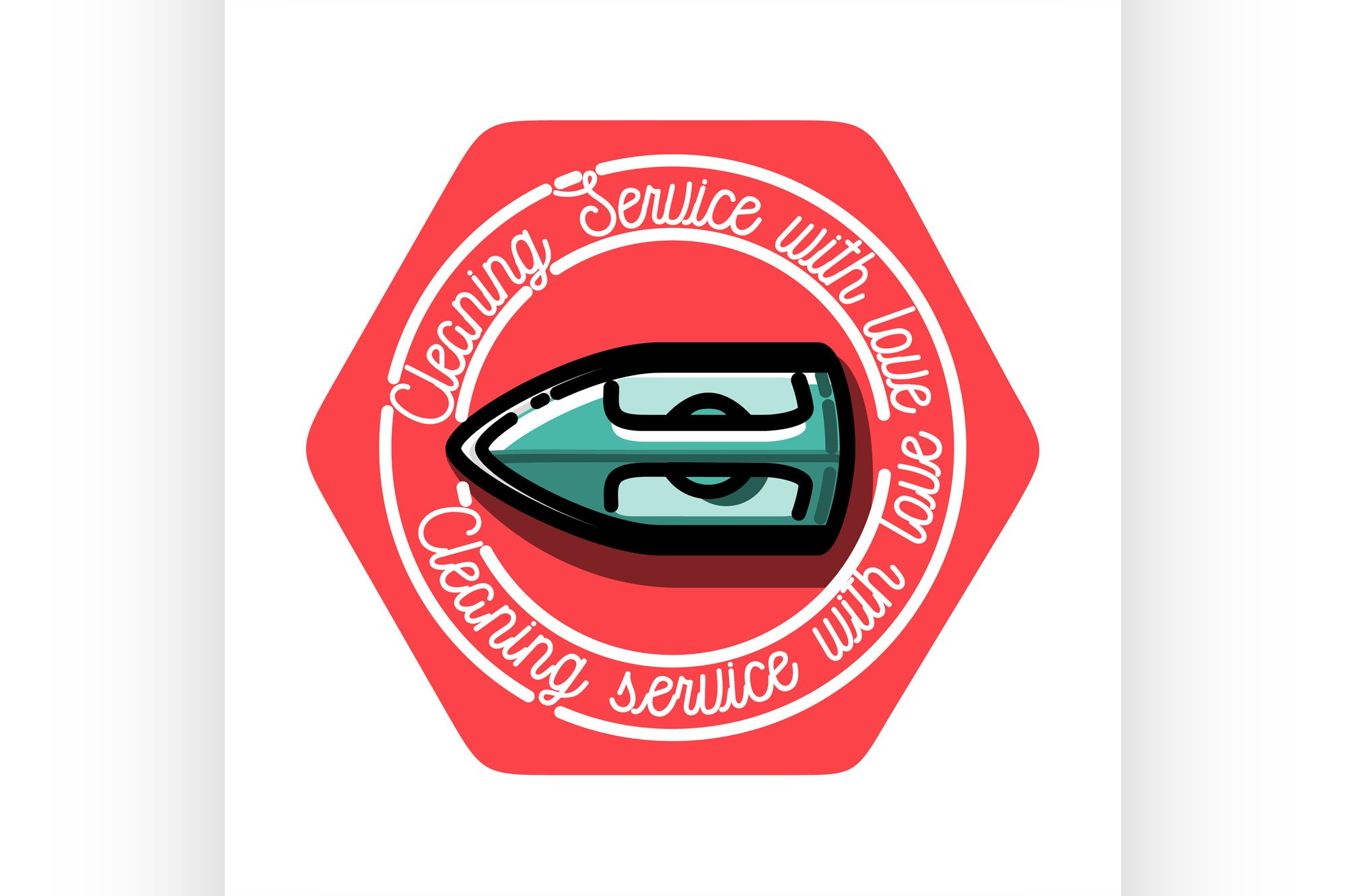 Color vintage cleaning service emblem. example image 1
