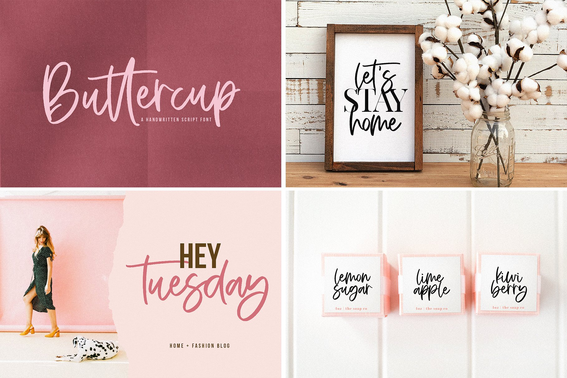 Farmhouse Font Bundle - Handwritten Fonts for Crafters! example image 8