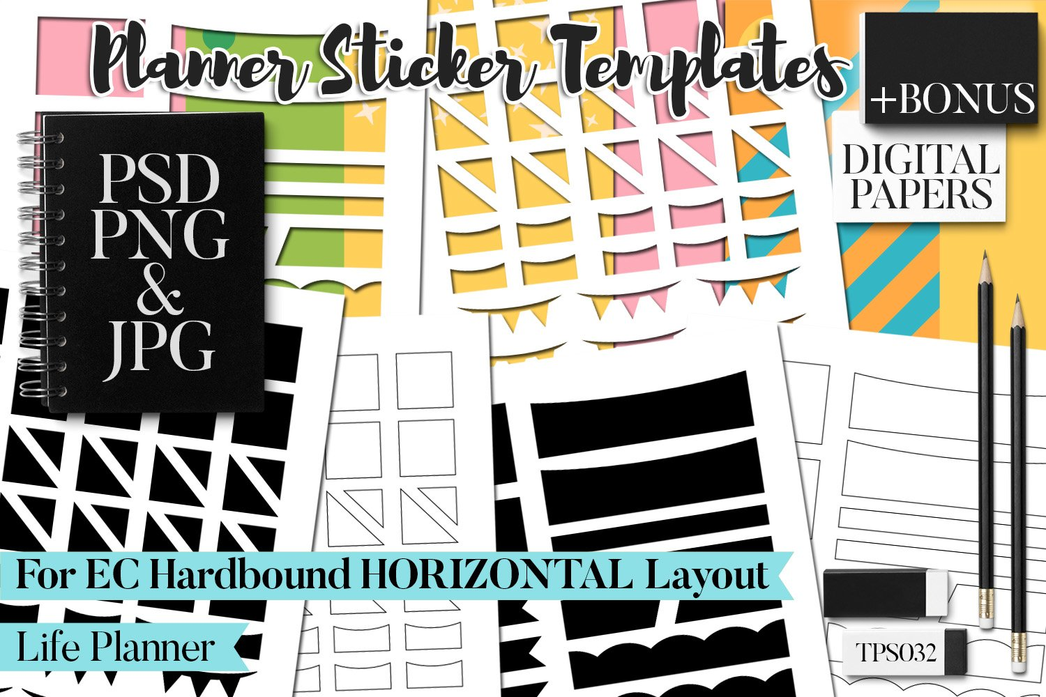 Planner Stickers Templates - Bundle Vol. 11 example image 8