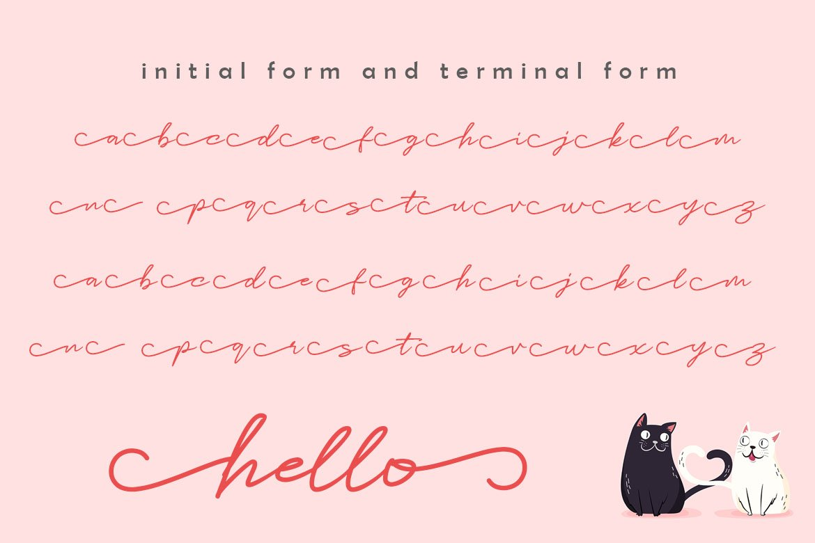 Catlove Lovely Font example image 7