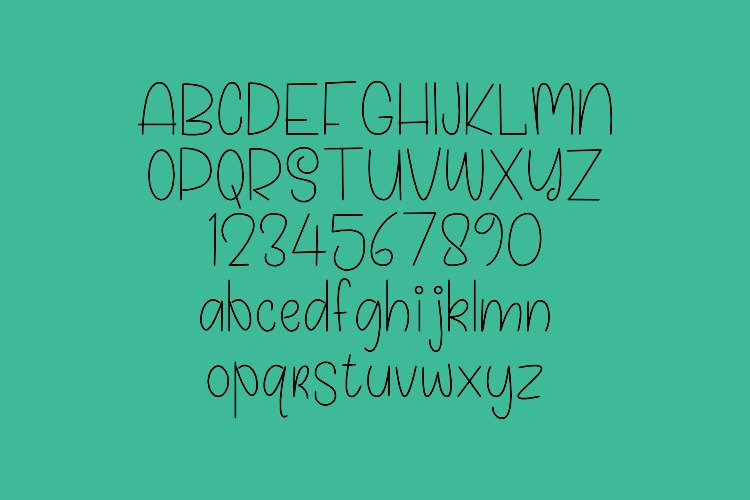Calline - Single Line - Hair Line Font example image 6