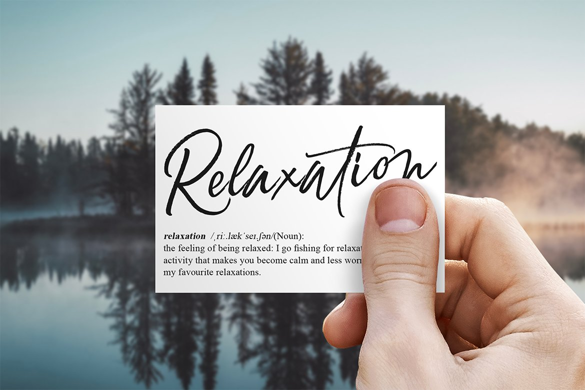 Relaxation // An Elegant Brush example image 2