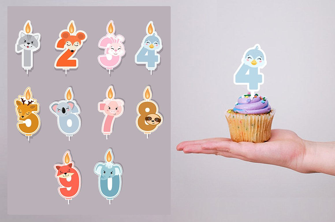 Birthday candles SVG example image 3