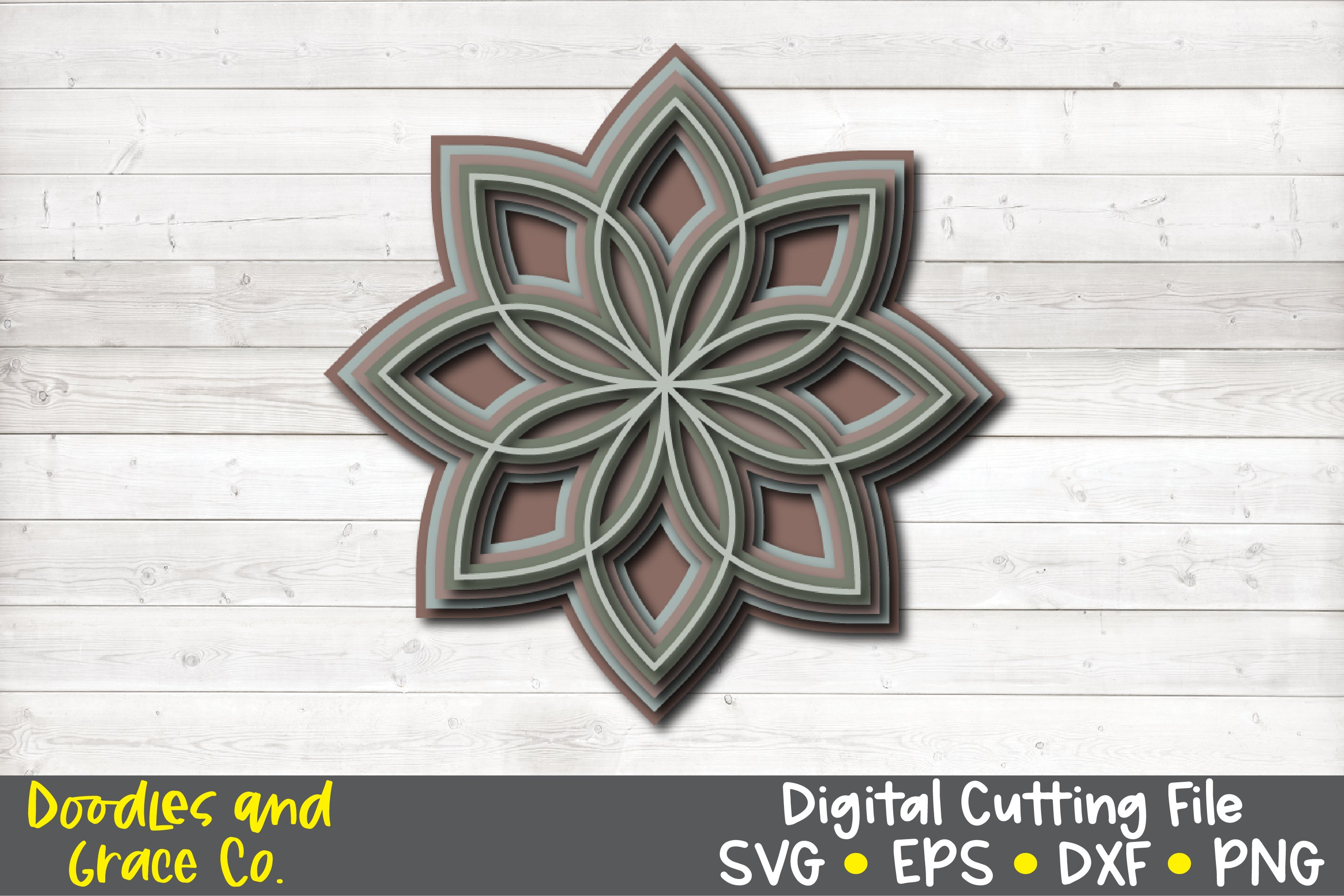 3D Layered Mandala Bundle - SVG - PNG - EPS - DXF example image 1