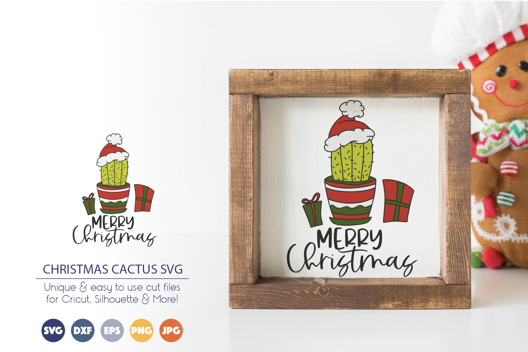 Merry Christmas SVG | Cactus SVG example image 1