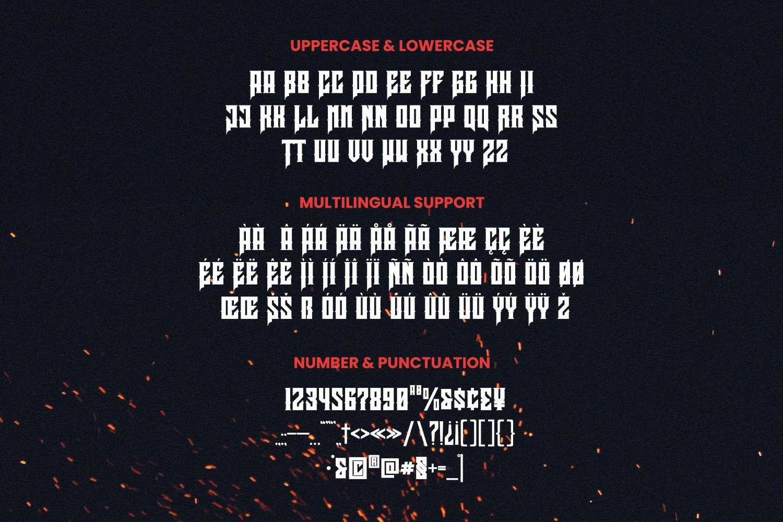 Slayer Font example image 3