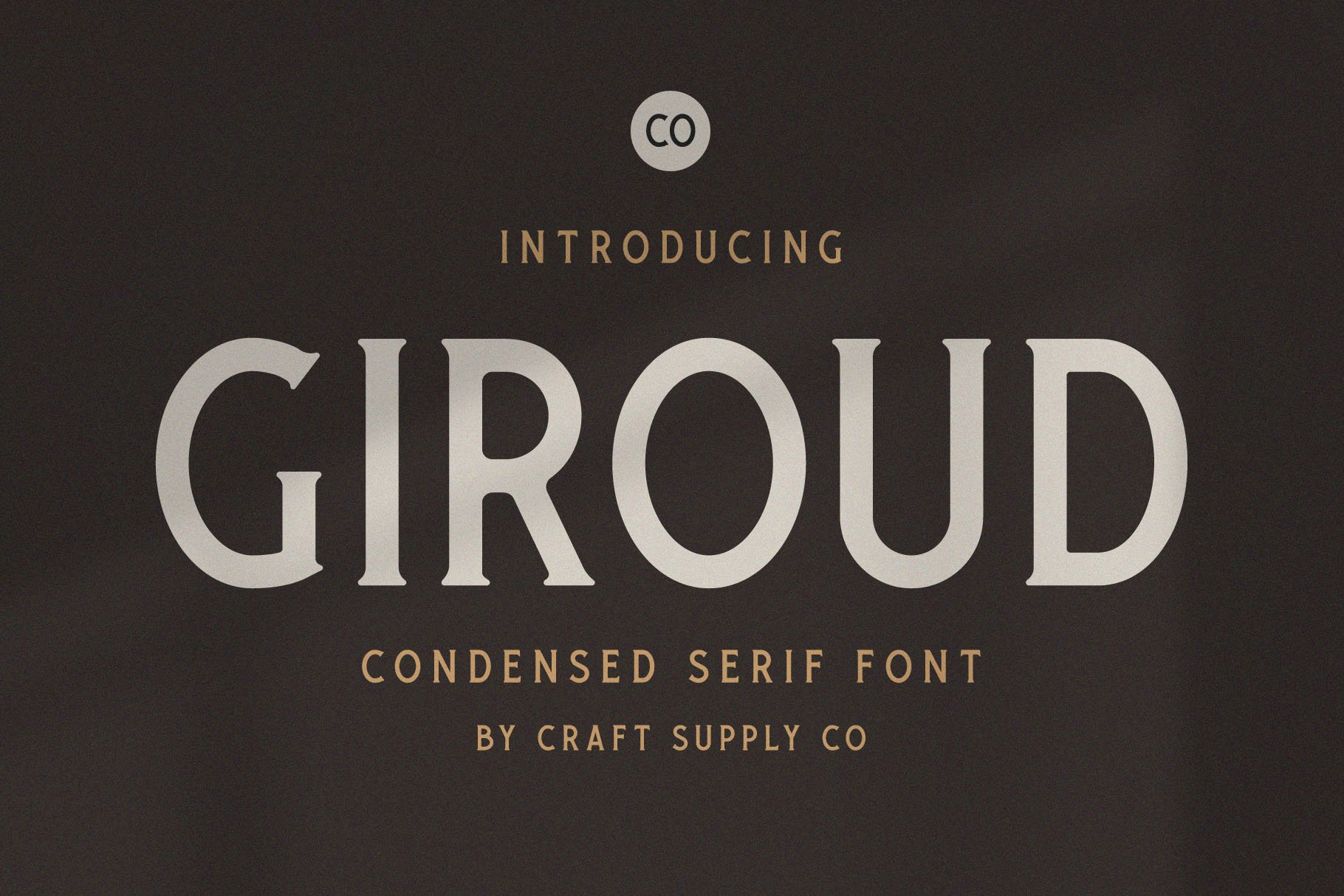 Giroud - Condensed Serif Font example image 1