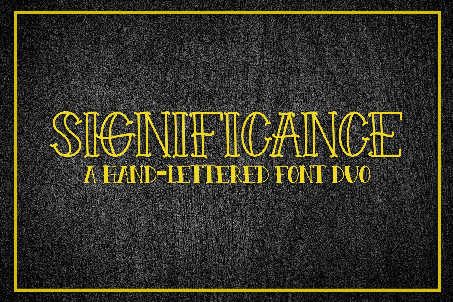 Significance - A Hand-Lettered Font Duo example image 1