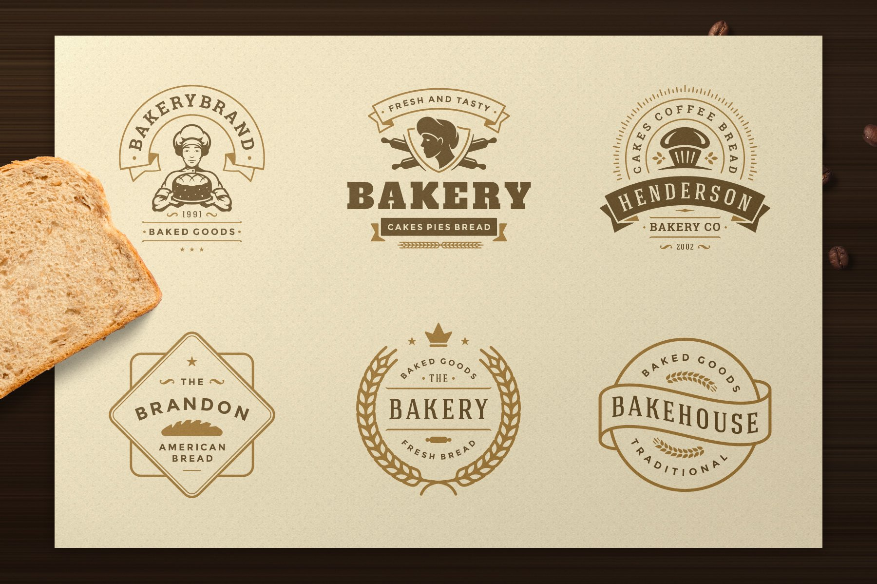 Bakery Logos and Badges example image 8