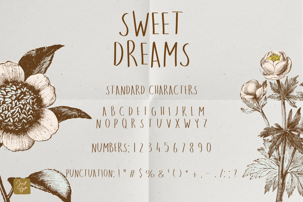 Sweet Dreams a hand-drawn wonky font example image 2