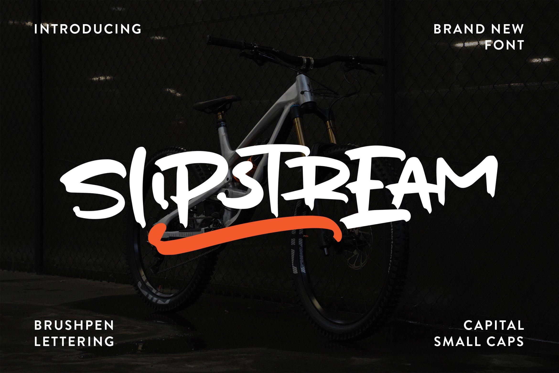 Slipstream - Brushpen Lettering Font example image 1