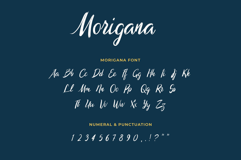 Morigana Hand Brush Calligraphy Font example image 2