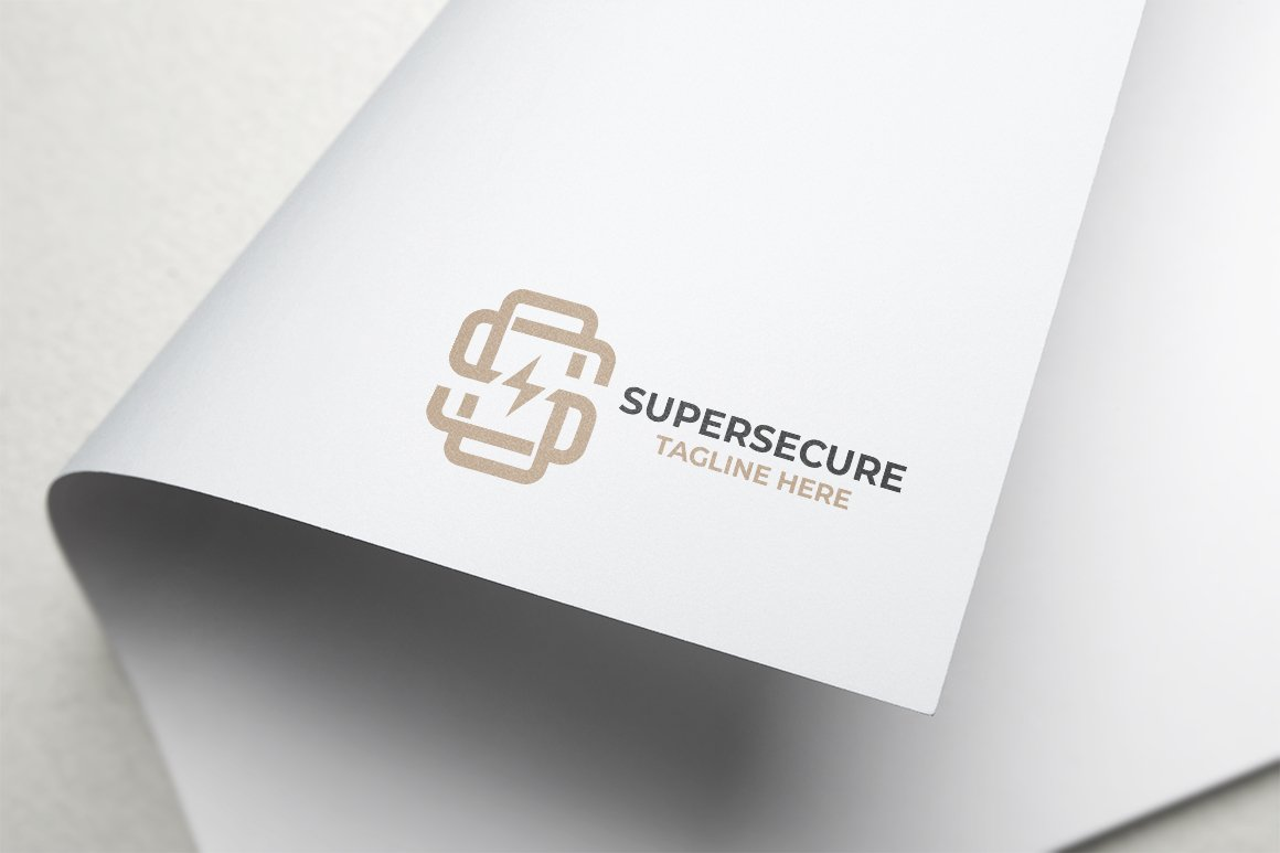 Super Secure Letter S Logo example image 4