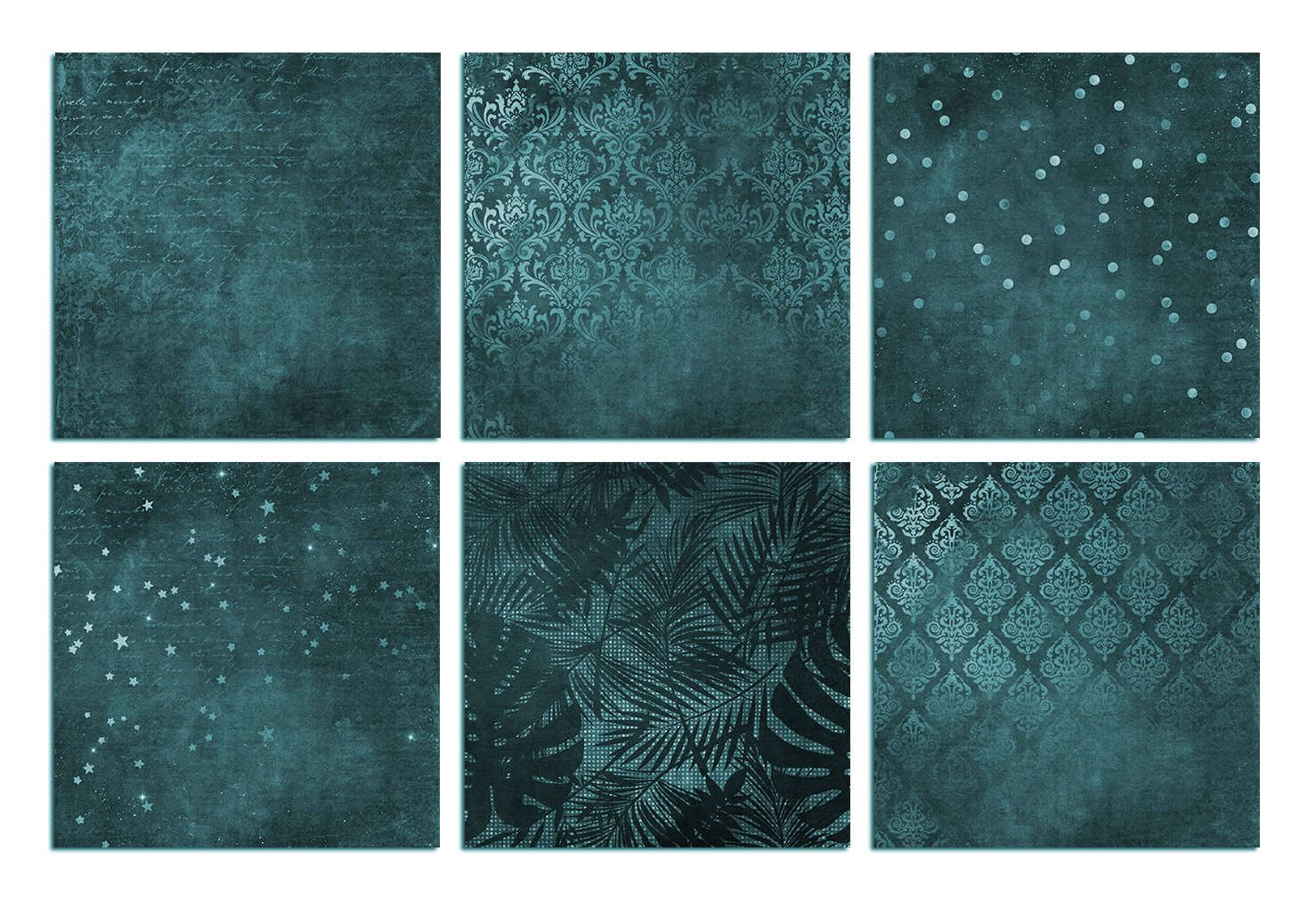 Green and Turquoise Textures example image 2