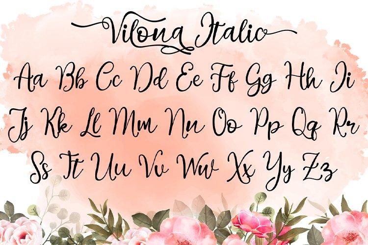 Vilona |Three Typeface example image 14