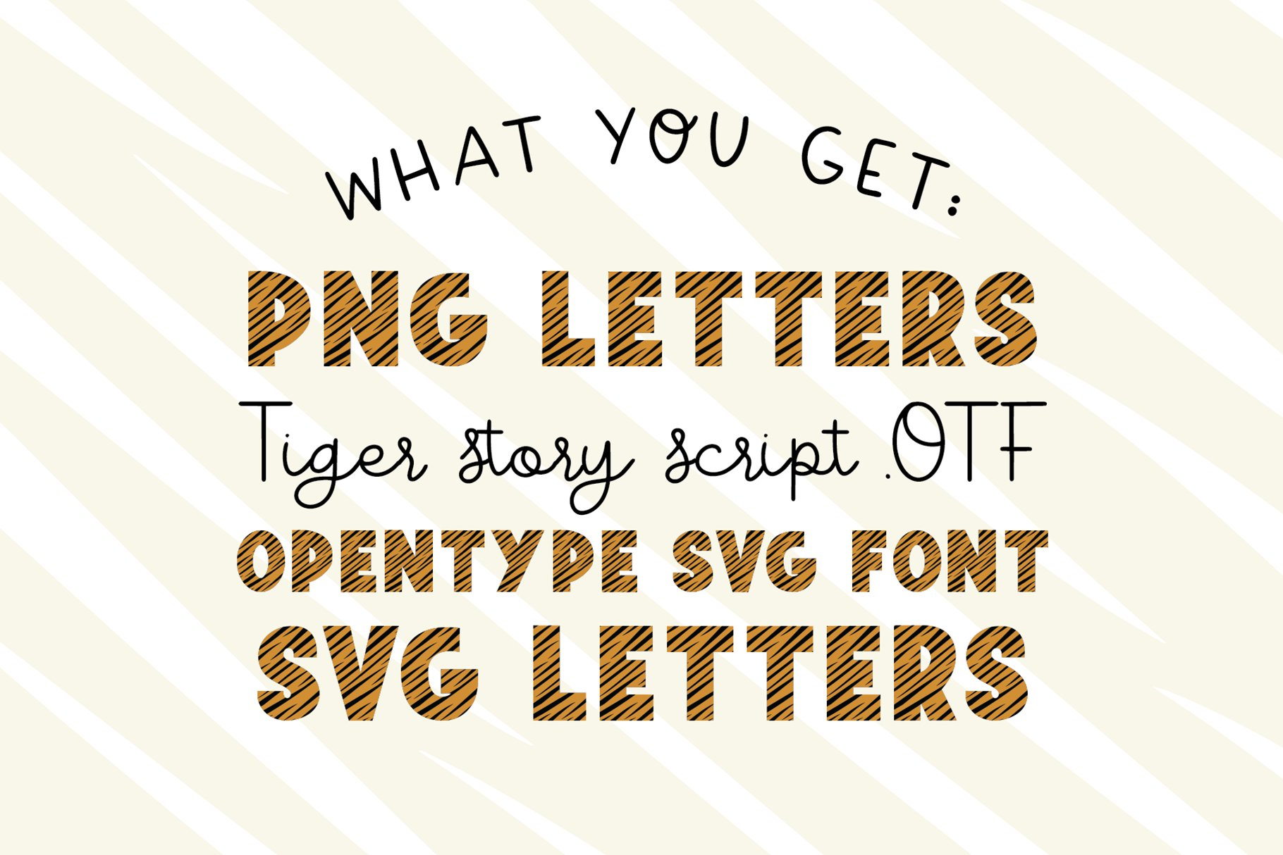 TIGER STORY Color Font Duo example image 3