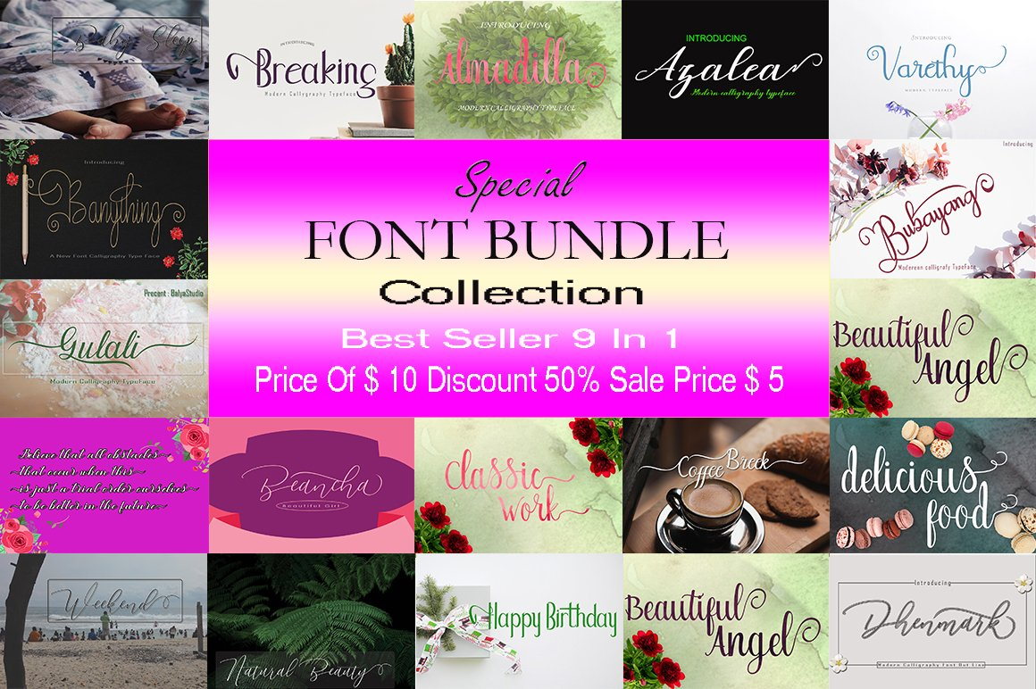 SPECIAL FONT BUNDLE COLLECTION example image 1