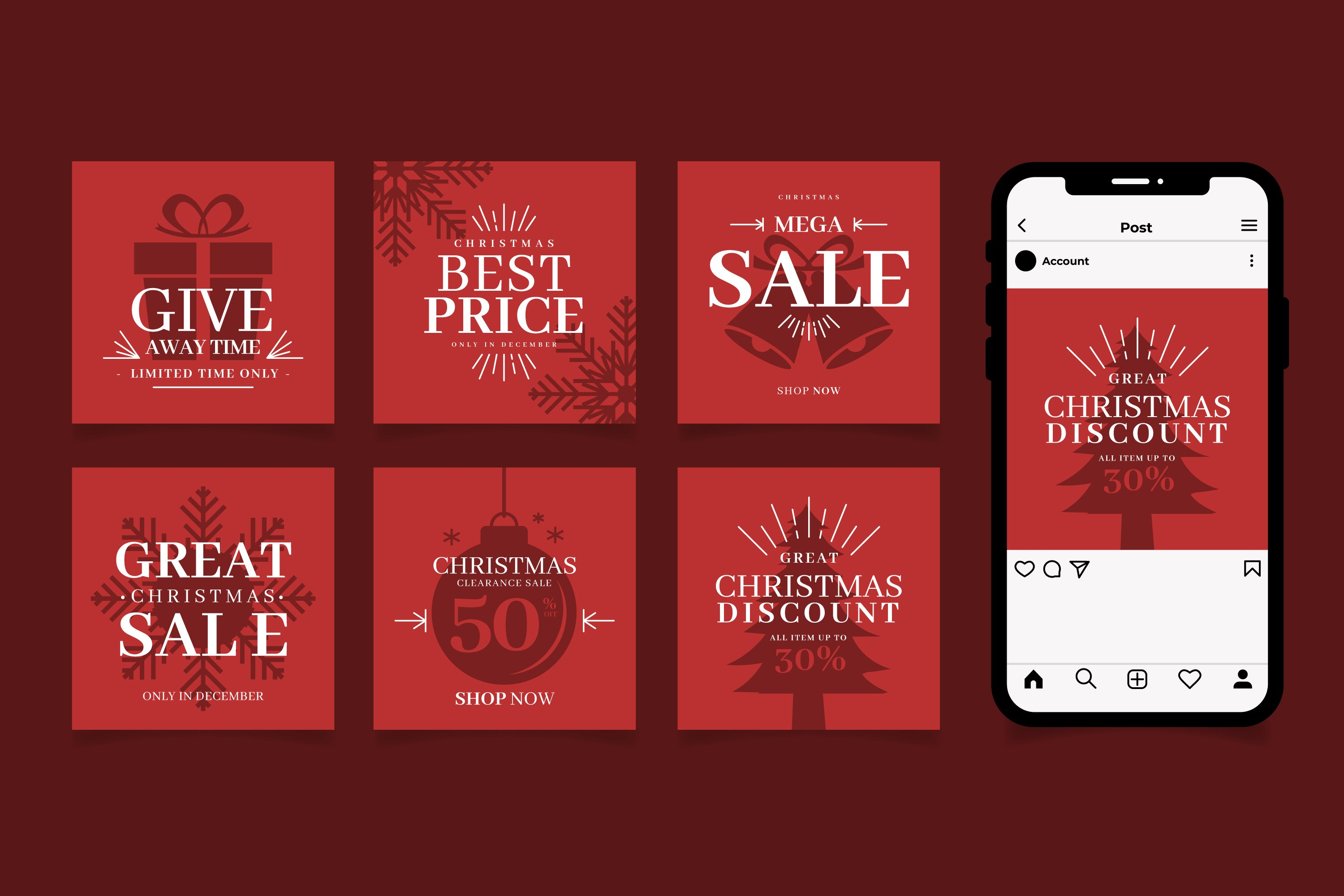 Christmas Sale Instagram Post example image 1