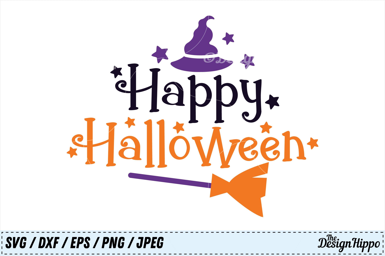 Happy Halloween Svg Halloween Svg Witch Hat Broom Svg Png 131249 Cut Files Design Bundles