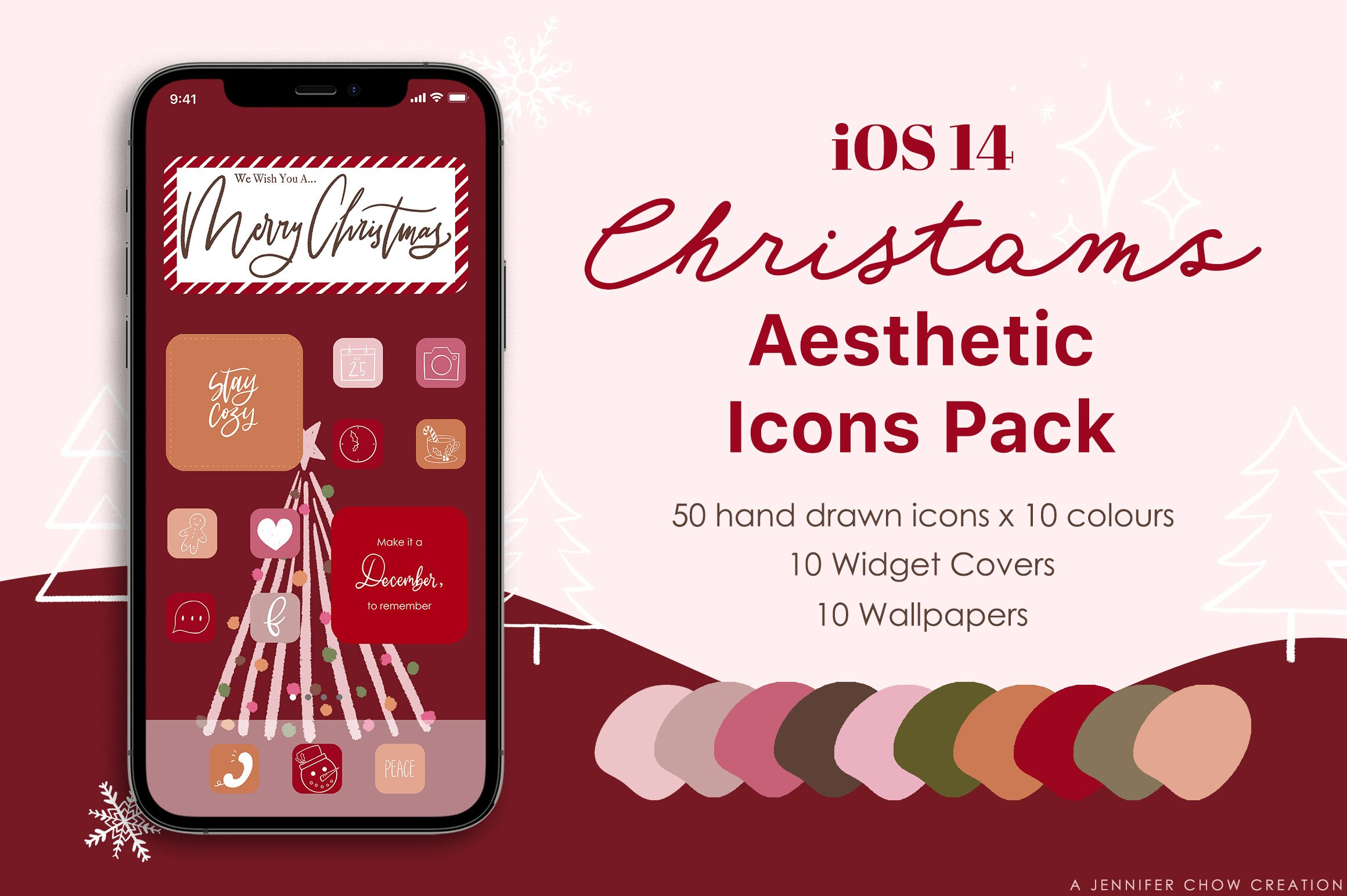 ufgm u2nxkombm https designbundles net jennifer chow 1055715 ios 14 christmas phone aesthetic hand drawn app ic
