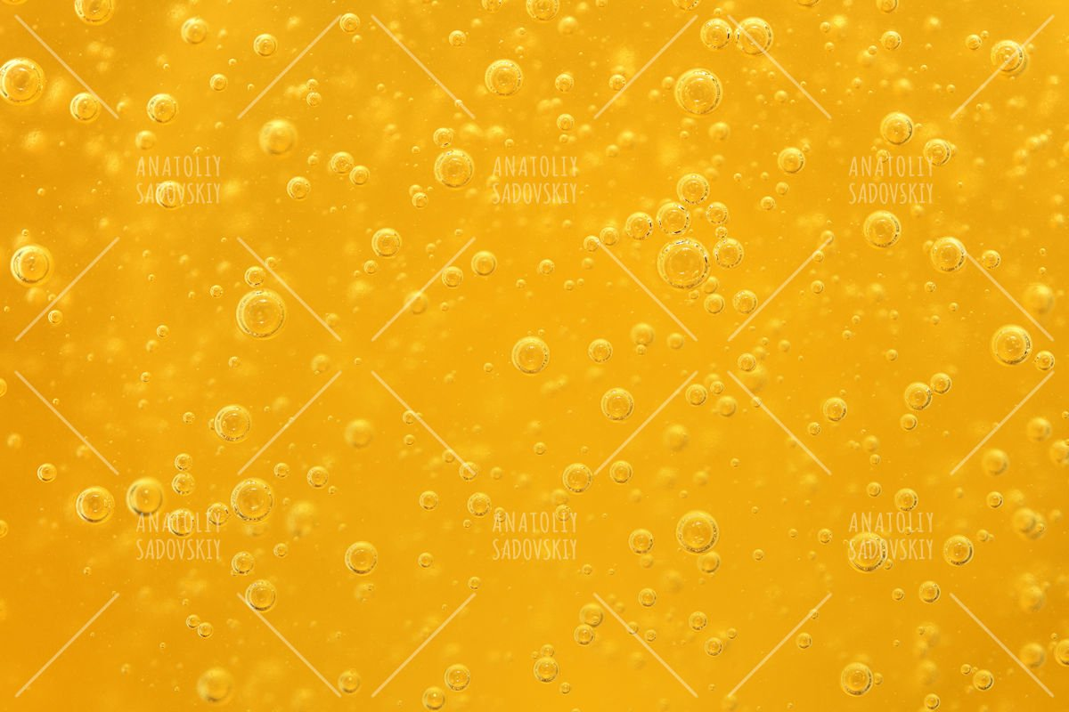 Honey background close-up with bubbles example image 1