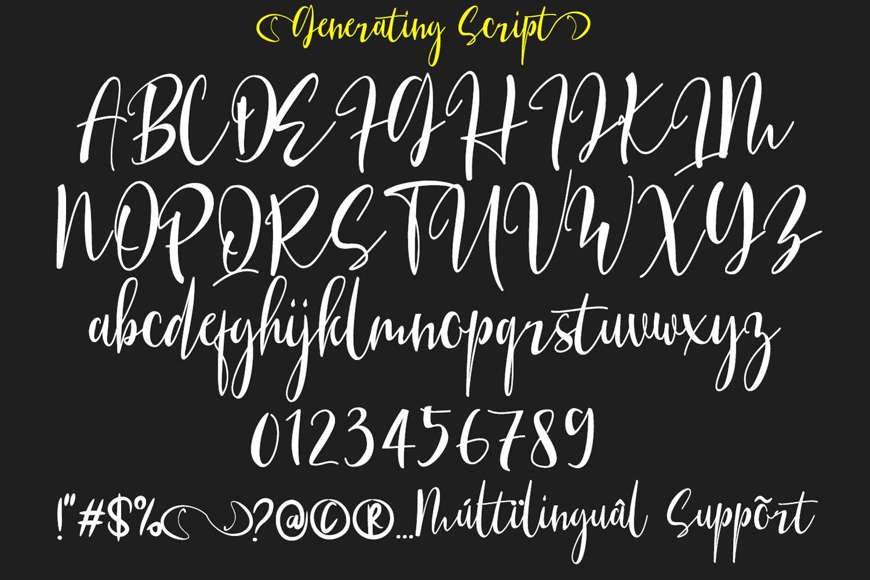 Generating Script Font example image 2