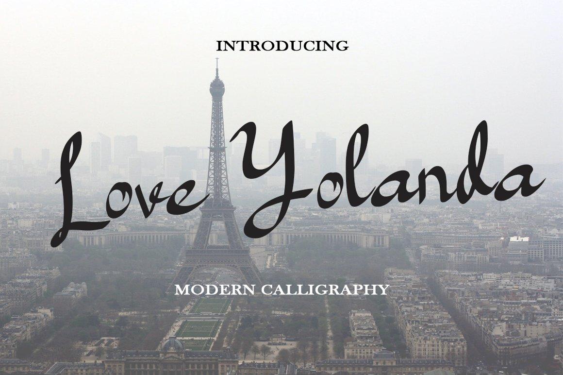 Love Yolanda - Font example image 5