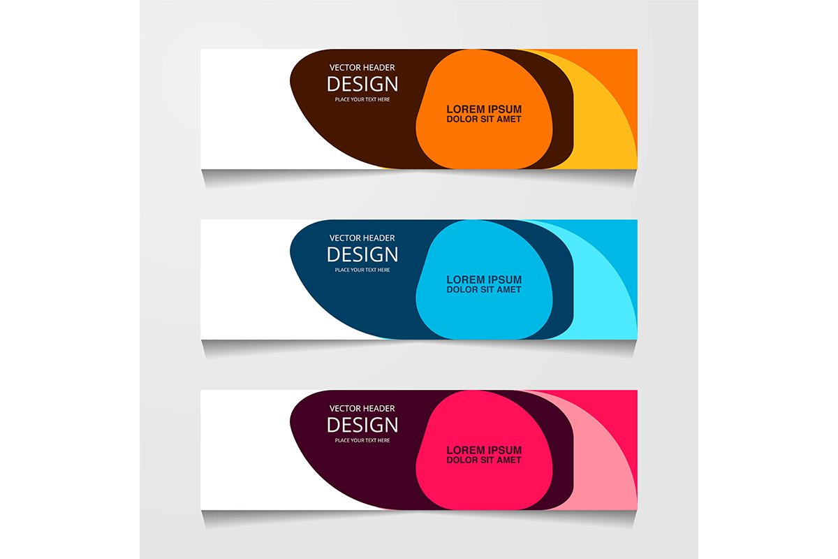abstract geometric design banner web template. Vector Illust example image 1