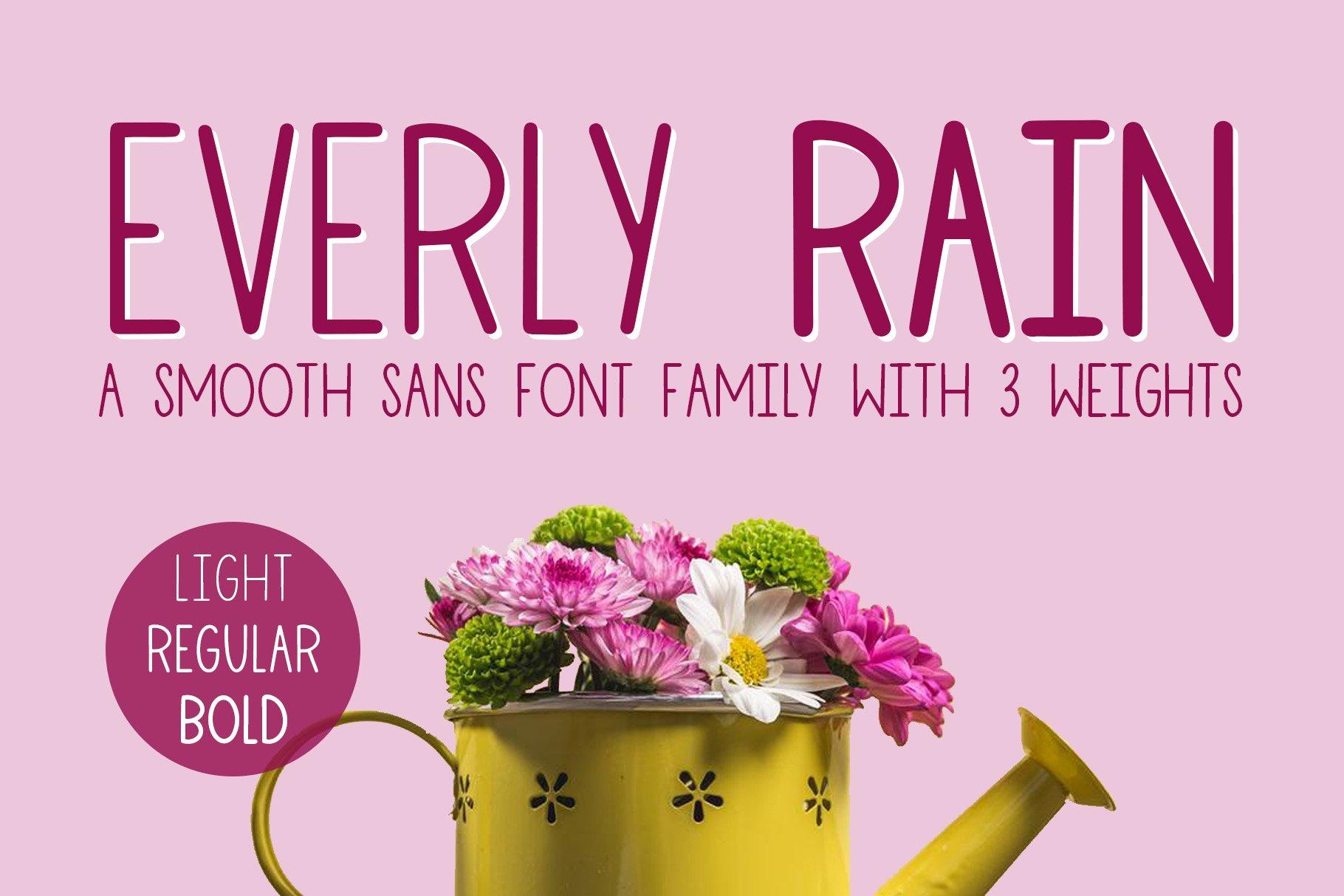Everly Rain, 3 Font Family example image 1