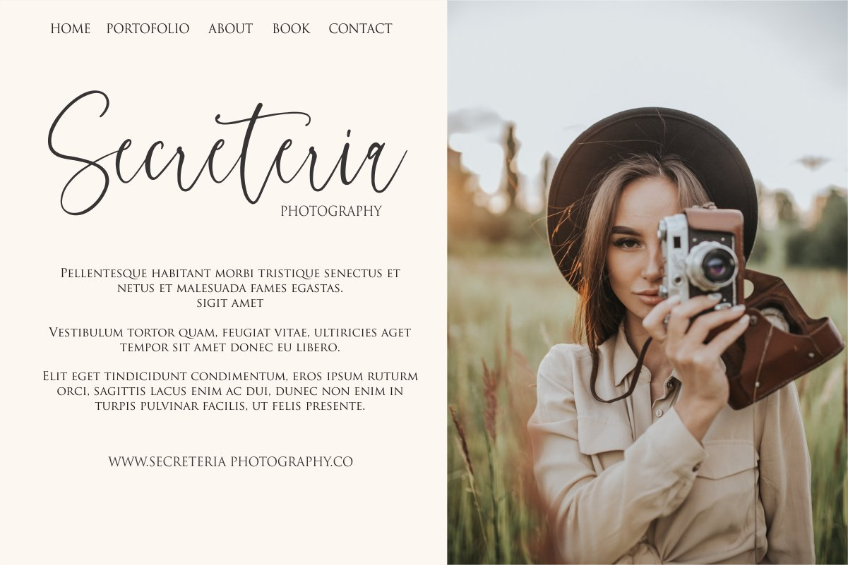 Charming - chic modern script font example image 4