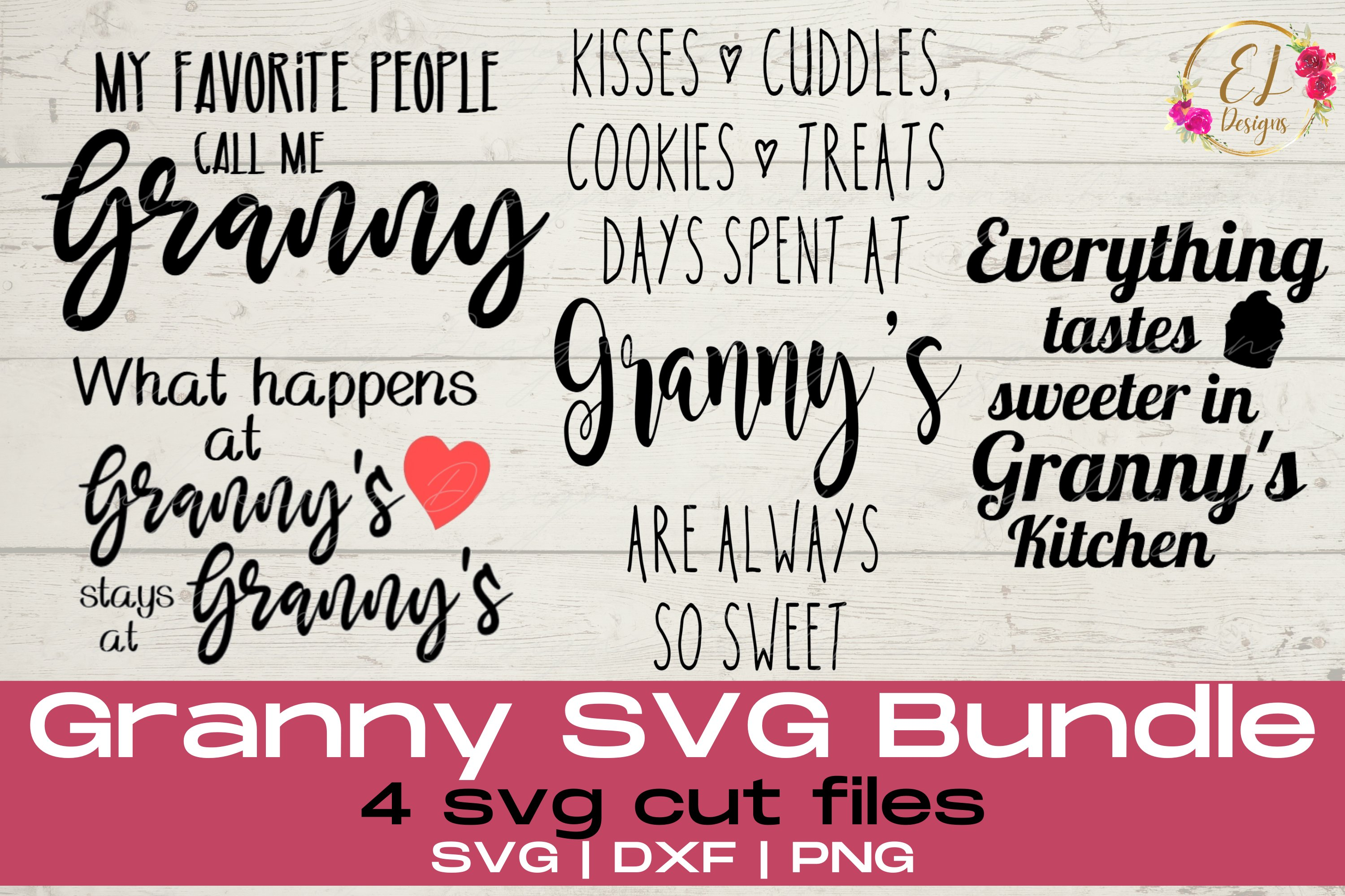 Free Don't forget to get your grandma a mother's day gift this year. Granny Svg Bundle Grandparents Svg Mothers Day Svg 1032293 Cut Files Design Bundles SVG, PNG, EPS, DXF File