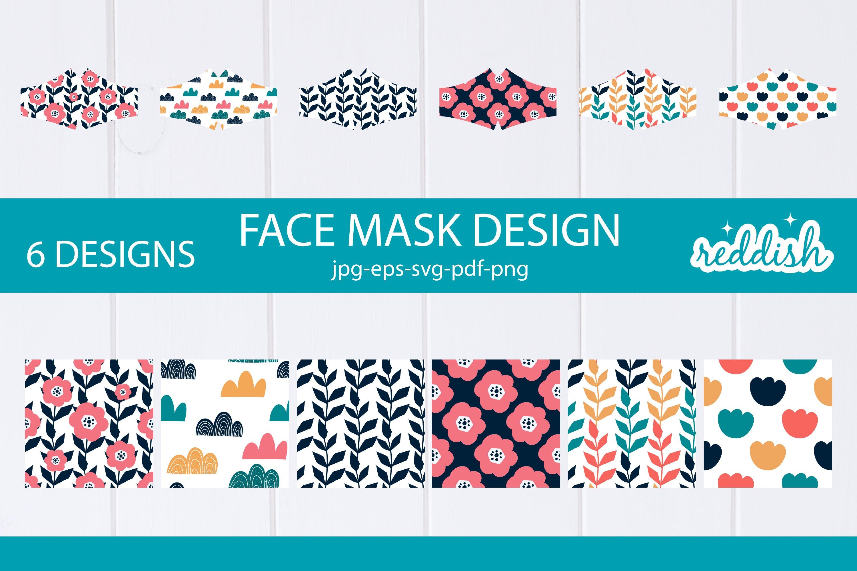 6 Face Mask Design 6 Mask Svgs And 6 Patterns Designs 856291 Fabric Crafts Design Bundles