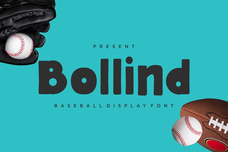 Bollind - Baseball Display Font example image 1