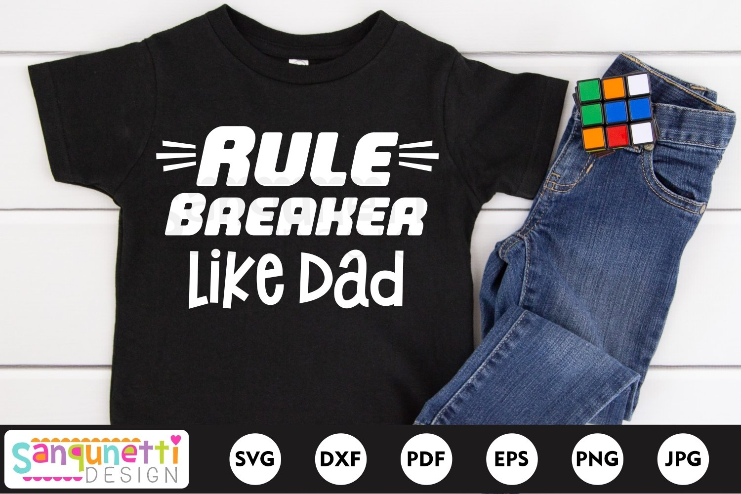 Rule breaker like Dad SVG, Father's day svg, funny svg example image 1